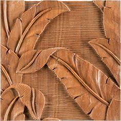 Indonesian Indah... carved teak wall tile by Ann Sacks. Gorgeous! (annsacks.com)