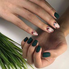 - - Vernis à ongles – Nails FoxyNails: Maniküre, Nageldesign Stylish Nails, Trendy Nails, Cute Nails, Classy Nails, Nail Art Vert, Pink Nails, My Nails, Fall Nails, Summer Nails