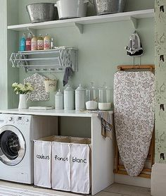 Amazing place to wash, fold & iron my clothes. Brilliant !