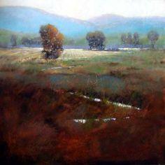 Wheatfields by Shirley Mckay, oil painting by Utah tonalist landscape artist
