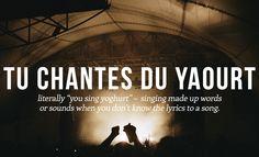 Expression idiomatique : chanter du yaourt