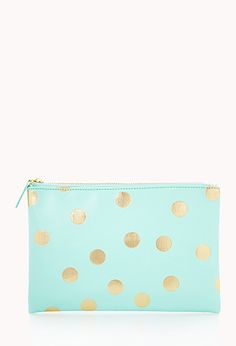 Metallic Polka Dot Cosmetic Pouch | FOREVER21 - 1000066252