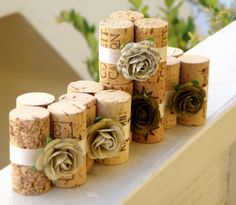 Love this idea for table card holders!