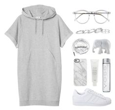 """""""Where are you now?"""" by felytery ❤ liked on Polyvore featuring Monki, Wildfox, adidas Originals, Kendra Scott, Urbanears, The Elephant Family, Uncommon and Fresh"""