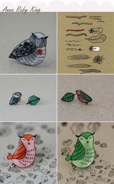 shrinky dink owls! (love love love)