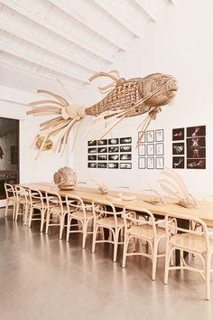 See the latest LZF Lamps Showroom Display Restaurant Interior Design, Home Interior, Interior Decorating, Japanese Restaurant Design, Cafe Design, Store Design, House Design, Display Design, Bar Deco