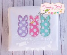 BunniesGirl-TSD Bunny rabbit appliqué  Girl peeps appliqué  Easter Applique Designs, Machine Embroidery Designs, Stitch Design, Bunny Rabbit, All Design, Peeps, Easter, Bunnies, Rabbits