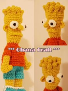 Ohana Craft: Bart Simpson Crochet Pattern