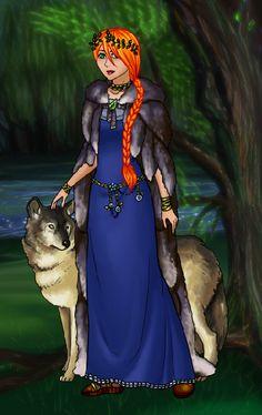 Sansa and Lady by Rayne Herbert Sansa Stark, Fan Art, Lady, Princess Zelda, Fictional Characters, Vest, Fantasy Characters, Fanart