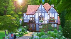 AvelineSims - Fantasy Tudor First house I built after a loooong...