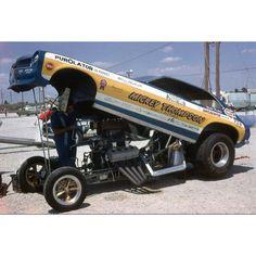 """Mickey Thompson's """"71 Pinto funny car."""