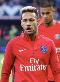 """Paris Saint-Germain's Brazilian forward Neymar looks on before the French L1 football match between Paris Saint-Germain and Bordeaux at the Parc des Princes stadium in Paris on September 30, 2017 """