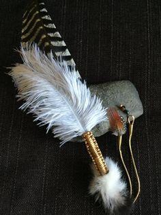 Spirit of Union Smudge Feather, fan de shaman, fan de Barbouiller, baguette…