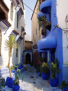 Xauen Chefchaouen Rif Morocco Blue