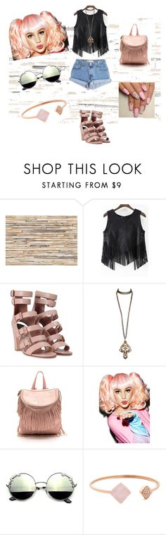 """""""Class in session """" by tai-rah on Polyvore featuring Brewster Home Fashions, Levi's, Laurence Dacade, Spree Picky, Michael Kors, Pink and nation"""
