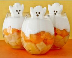 Peeps furit cup for Halloween dessert. Adorable!