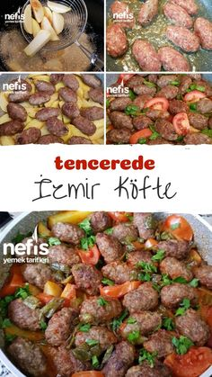 Izmir meatballs in the pot - delicious recipes - # 6917252 - How to make Izmir Meatball Recipe in the pot? Here is the illustrated explanation of Izmir Meatball - Wie Macht Man, Middle Eastern Recipes, Meatball Recipes, Main Meals, Yummy Food, Delicious Recipes, Food And Drink, Pasta, Lunch