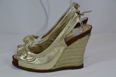 Miss Sixty Gold Wedges