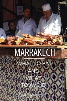 to Eat and What to Avoid in Marrakech In Marrakech it can be hard to find good food. But, in this post you'll find some tips on what to eat and what to avoid when you're in Marrakech, Morocco. Marrakech Travel, Visit Morocco, Marrakech Morocco, Morocco Travel, Africa Travel, Vietnam Travel, Places To Travel, Travel Destinations, Egypt