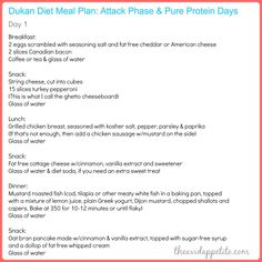 Dukan diet attack phase meal plan meal plan attack phase or pp days the avid appetite Dukan Diet Meal Plan, Dukan Diet Recipes, Diet Meal Plans, Dukan Diet Attack Phase, Dukan Diet Phases, Diet Quotes, Care Quotes, Diet Challenge, After Life