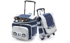 Picnic Plus Cooladio RadioMP3 Speaker Trolley Cooler Navy *** To view further for this item, visit the image link.