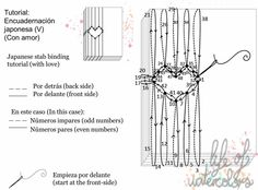 Tutoría: encuadernado japonés para San Valentín   -   Tutorial japanese bookbinding: valentines Japanese Stab Binding, Bookbinding Tutorial, Bookbinding Ideas, Libros Pop-up, Bullet Journal 2019, Stitch Book, Cool Books, Old Paper, Handmade Books