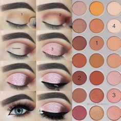 Eye makeup can easily improve your attractiveness and help to make you look and feel dazzling. Discover the best way to apply make-up so that you can show off your eyes and make an impression. Discover the best ideas for applying make-up to your eyes. Eye Makeup Steps, Simple Eye Makeup, Natural Eye Makeup, Easy Makeup, Natural Beauty, How To Do Makeup, Organic Makeup, Natural Face, Makeup Goals