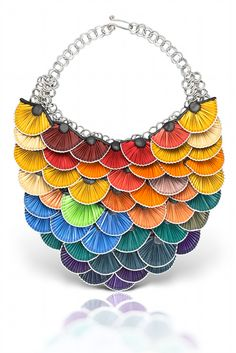 Necklace made from recycled Nespresso pods by Kathleen Nowak Tucci https://www.facebook.com/KathleenNowakTucci
