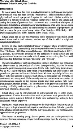 Working with ritual abuse article