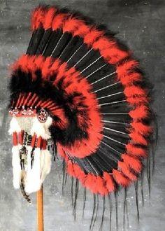 Native American Black Hawk War Bonnet Headdress in Collectibles, Cultures & Ethnicities, Native American US Native American Headdress, Native American Clothing, Native American Pictures, Indian Pictures, Native American Tribes, Native American History, Native American Fashion, American Indians, Native Americans
