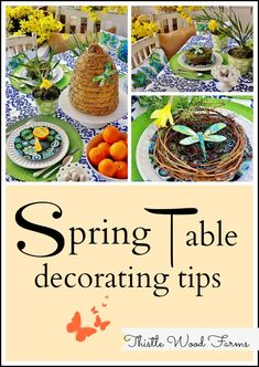 Spring {Easter} Table decorating tips by Kari Anne @Thistlewood Farm #DIY #Decorating collag