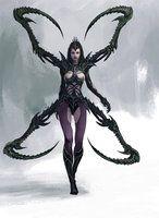 Spider Warrior by Manzanedo on DeviantArt Dark Fantasy Art, Fantasy Rpg, Fantasy Women, Fantasy Girl, Fantasy Artwork, Dark Art, Arte Horror, Horror Art, Fantasy Creatures