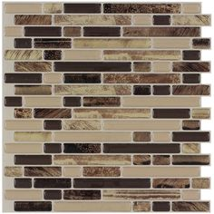 Peel&Stick Mosaics Rockbridge Linear Mosaic Composite Wall Tile (Common: 10-in x 10-in; Actual: 9.4-in x 10-in)
