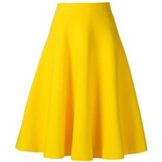Le Ciel Bleu A-Line Midi Skirt (€125) ❤ liked on Polyvore featuring skirts, bottoms, hameet, saias, midi skirts, yellow midi skirt, mid-calf skirts, yellow a line skirt and le ciel bleu