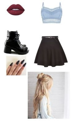 """""""Casual cool"""" by paigepaigeblack on Polyvore featuring Lipsy, New Look and Lime Crime"""