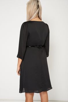 Belted Round Neck Dress Available In Plus Sizes only for £8.99. Visit Essence Clothing to check out more items on sale.