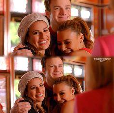 Kurt and Rachel and Santana