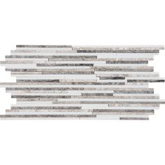 Granada Blend Polished Bamboo Marble Mosaics 6x12 - Marble System Inc.