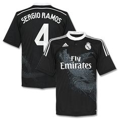 9defff732 Adidas Real Madrid 3rd Sergio Ramos Shirt 2014 2015 Real Madrid 3rd Sergio  Ramos Shirt 2014