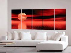 Sunset Paintings, Sunset Painting, Oil Painting, Canvas Art c0097