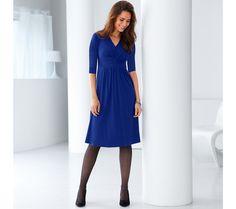 Jednofarebné úpletové šaty s 3/4 rukávmi | blancheporte.sk #blancheporte #blancheporteSK #blancheporte_sk #dress #saty Dresses For Work, Sexy, Fashion, Moda, Fashion Styles, Fashion Illustrations