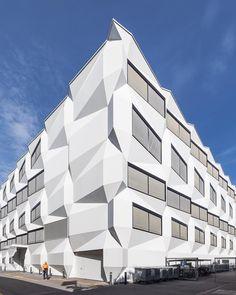 University of Lucerne. Design of the building by Enzmann Fischer architects, built 2006-2011