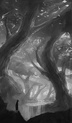 Forest sketch by mrNepa on DeviantArt