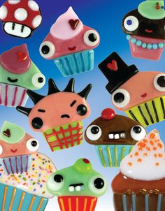 adorable cupcake creations in fused glass
