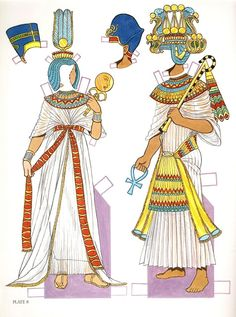 Ancient Egyptian Costumes Paper Dolls: History of Costume Series, Tom Tierney Ancient Egyptian Clothing, Ancient Egyptian Costume, Egyptian Fashion, Ancient Egypt Fashion, Ancient World History, Art History, History Facts, Egypt Crafts, Creation Art