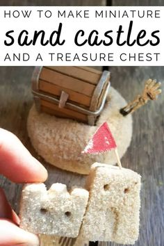 """This tutorial will show you how to make miniature sandcastles and a tiny treasure chest. You'll also see how to turn broken wine glasses into this unique """"Sands of Time"""" inspired hourglass.#wineglassrepurpose #SandsofTime #uniquedecor #acraftymix #hourglassdecor Diy Crafts For Gifts, Diy Home Crafts, Crafts For Teens, Handmade Crafts, Decor Crafts, Fun Crafts, Diy Home Decor, Tiny Treasures, Craft Organization"""
