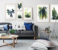 Your crib is nowhere near complete without one of these trendy house plants. How about sprucing up your home by adding fresher shades of green? Coastal Living Rooms, Living Room Grey, Living Room Modern, Living Room Designs, Living Room Decor, Bedroom Decor, Wall Decor, Modern Color Schemes, Room Color Schemes