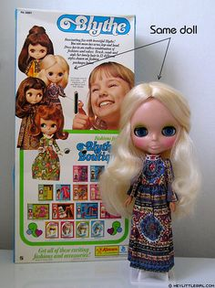 Original Blythe - I still have her, though her hair isn't as shiny and she is a bit worse for wear...  These were released in 1972, when I was 1 year old.  And, I played with her.