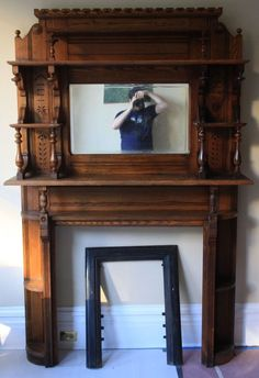 American Antique Fireplace Mantle Antique Fireplace Surround Antique ...
