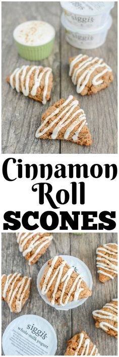 AD- These Cinnamon Roll Scones are a must-try for breakfast this weekend! They're a healthy twist on those pre-packaged cinnamon rolls and made them with @siggisdairy yogurt for a protein boost! Ready in 20 min!